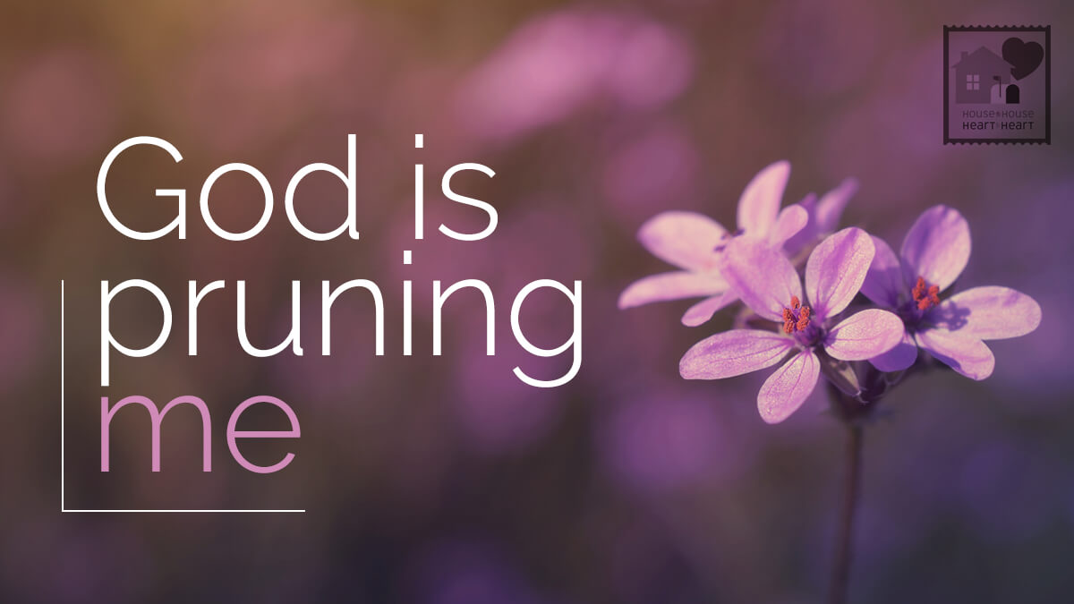 God Is Pruning Me House To House Heart To Heart