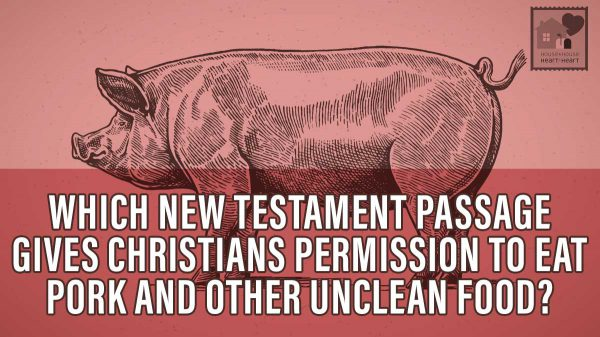 What New Testament passage gives Christians permission to eat pork and other foods formerly forbidden of Jews?